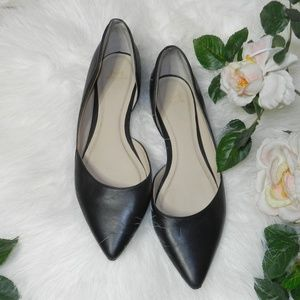 Marc Fisher Sunny Half d'Orsay black leather Flats